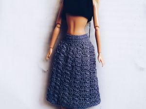 Юбка для Барби крючком. МК. Crochet skirt for Barbie. Ярмарка Мастеров - ручная работа, handmade.
