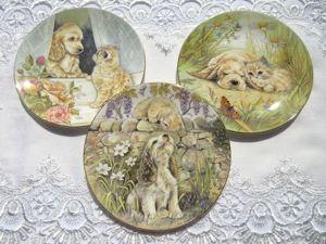 Коллекционные тарелки от Royal Worcester с милыми Щенком и Котенком. Ярмарка Мастеров - ручная работа, handmade.