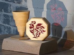 Мастерим деревянную шкатулку с инкрустацией оргстеклом и складной пирамидкой внутри. Ярмарка Мастеров - ручная работа, handmade.