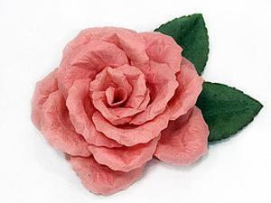 Как сделать реалистичную розу без инструментов. Ярмарка Мастеров - ручная работа, handmade.