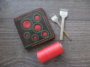 Изготавливаем кожаный кошелек. Ярмарка Мастеров - ручная работа, handmade.