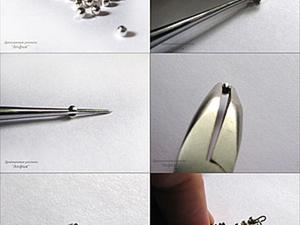 мини-МК, заменяем обжимные бусины обычными металлическими. Ярмарка Мастеров - ручная работа, handmade.