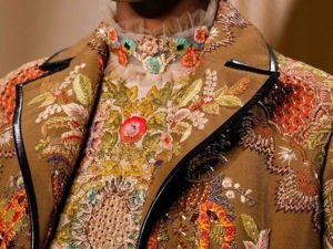 Два наряда с вышивкой растительных орнаментов от Valentino Haute Couture Spring 2015. Ярмарка Мастеров - ручная работа, handmade.