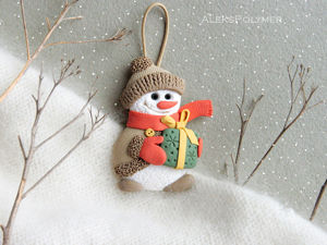 DIY Snowman of Polymer Clay. Livemaster - handmade
