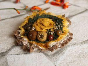 Создаем бохо-брошь «Бабье лето». Ярмарка Мастеров - ручная работа, handmade.