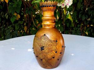 Видео мастер-класс: как сделать из старого графина вазу в винтажном стиле. Ярмарка Мастеров - ручная работа, handmade.
