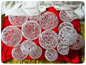 Как сделать шары из ниток и клея ПВА своими руками. Ярмарка Мастеров - ручная работа, handmade.