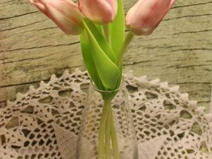 Реалистичные тюльпаны из полимерной глины: видео мастер-класс. Ярмарка Мастеров - ручная работа, handmade.