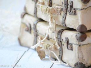 Видео мастер-класс: делаем винтажный чемоданчик из полимерной глины. Ярмарка Мастеров - ручная работа, handmade.