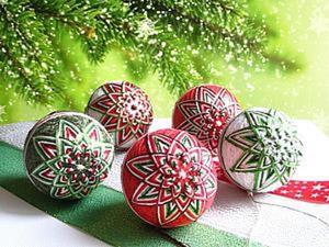 Необычное украшение на новогоднюю ёлку — темари. Ярмарка Мастеров - ручная работа, handmade.