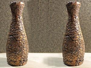 Видеоурок: делаем вазу из бутылки и шпатлевки. Ярмарка Мастеров - ручная работа, handmade.