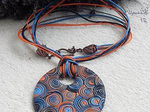 Как сделать эффектный кулон «Оранжевые паруса» из полимерной глины. Ярмарка Мастеров - ручная работа, handmade.