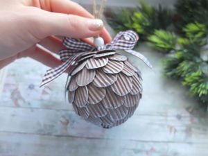 Мастерим елочный шар из гофрокартона. Ярмарка Мастеров - ручная работа, handmade.