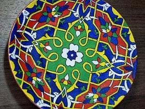 """Тарелка-коврик (""""Таджикский орнамент""""). Ярмарка Мастеров - ручная работа, handmade."""