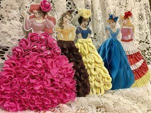 Декор открыток — платья для принцесс. Соты из бумаги. Часть 2. Ярмарка Мастеров - ручная работа, handmade.