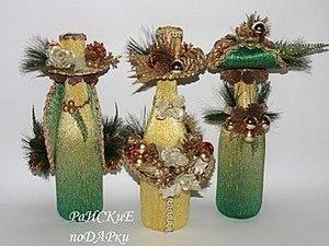 Фото мастер-класс по оформлению бутылки шампанского. Ярмарка Мастеров - ручная работа, handmade.