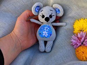 Бесплатный МК по вязанию мышки. Ярмарка Мастеров - ручная работа, handmade.
