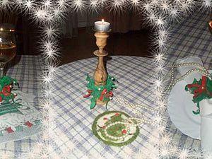 Новогоднее украшение для подсвечника, фужера или салфетки. Ярмарка Мастеров - ручная работа, handmade.