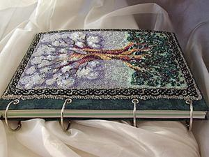 Декорирование блокнота: как прикрепить вышивку к готовой работе. Ярмарка Мастеров - ручная работа, handmade.