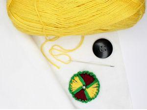 Как сделать пуговицу из пряжи своими руками. Ярмарка Мастеров - ручная работа, handmade.
