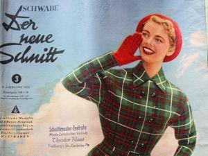 Der Neuer Schnitt — старый немецкий журнал мод -3/1955. Ярмарка Мастеров - ручная работа, handmade.