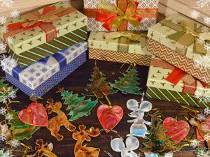 Набор елочный игрушек  «Праздничный». Ярмарка Мастеров - ручная работа, handmade.