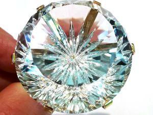 Видео кольца «Astra Diamonds» белый топаз,бриллианты,золото 585. Ярмарка Мастеров - ручная работа, handmade.
