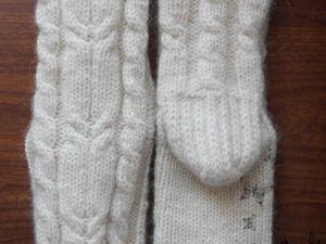 Мастер-класс: вяжем спицами носочки с косами. Ярмарка Мастеров - ручная работа, handmade.