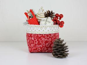 Как сшить новогоднюю корзинку. Ярмарка Мастеров - ручная работа, handmade.