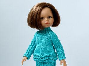 Вяжем платье-фонарик для куклы паолки. Ярмарка Мастеров - ручная работа, handmade.