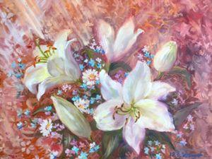 Аукцион 18-19 февраля! Картина с цветами маслом на холсте!. Ярмарка Мастеров - ручная работа, handmade.