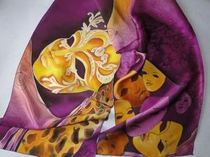 Делаем шарфик «Маска» в технике холодного батика. Ярмарка Мастеров - ручная работа, handmade.