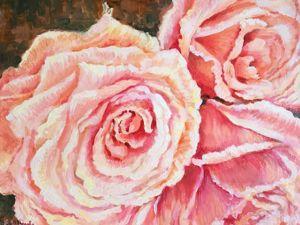 Скидки — 20% на авторские картины цветов!. Ярмарка Мастеров - ручная работа, handmade.