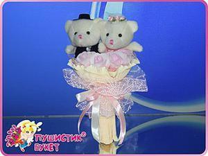 Делаем из мягких игрушек свадебный букет-дублёр. Ярмарка Мастеров - ручная работа, handmade.