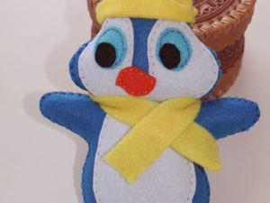 Шьем милого пингвинчика из фетра. Ярмарка Мастеров - ручная работа, handmade.