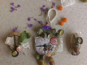 Создаем осенний декор дома: магнит, подвеска и брошь. Ярмарка Мастеров - ручная работа, handmade.