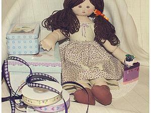 Шьем текстильную куклу в винтажном стиле.. Ярмарка Мастеров - ручная работа, handmade.