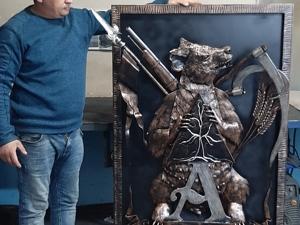 Из процесса герб. Ярмарка Мастеров - ручная работа, handmade.
