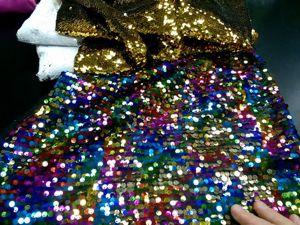 Видео: пайетки на атласе конфети/разноцветные — 950р/метр. Ярмарка Мастеров - ручная работа, handmade.