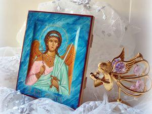 Благотворительная лотерея Икона Ангела Хранителя в подарок !. Ярмарка Мастеров - ручная работа, handmade.