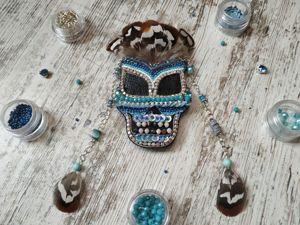 Вышиваем брошь из бисера Индейская маска. Ярмарка Мастеров - ручная работа, handmade.