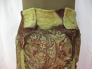 Делаем легкую юбку с валяными вставками. Ярмарка Мастеров - ручная работа, handmade.