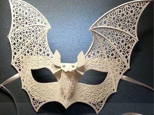 Как сделать карнавальную маску «Летучая мышь». Ярмарка Мастеров - ручная работа, handmade.