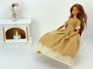 Как сшить осеннее бальное платье для куклы Барби DIY. Ярмарка Мастеров - ручная работа, handmade.