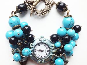 Часы-браслет своими руками: мастер-класс. Ярмарка Мастеров - ручная работа, handmade.