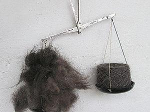 Сравниваем вес вычесанной собачьей шерсти и готовой пряжи из нее. Считаем потери. Ярмарка Мастеров - ручная работа, handmade.