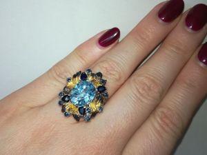 Видео кольца  «Небесный цветок». Ярмарка Мастеров - ручная работа, handmade.