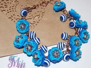 Мастерим браслет «Джинсовые цветы». Ярмарка Мастеров - ручная работа, handmade.