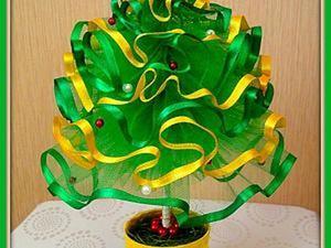Новогодняя елочка из фатина своими руками. Ярмарка Мастеров - ручная работа, handmade.