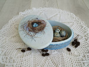 How to Make Easter Box ''Nest''. Livemaster - handmade